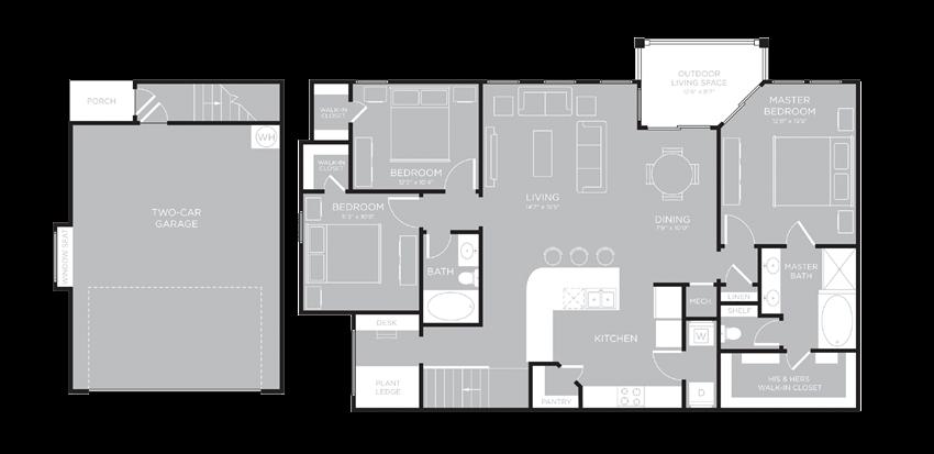 LOS ANGELES Floor Plan at Century Travesia, Texas