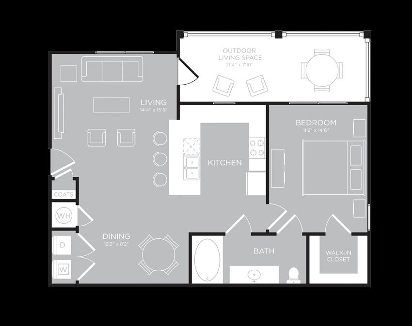 MUNICH Floor Plan at Century Travesia, Austin, 78728