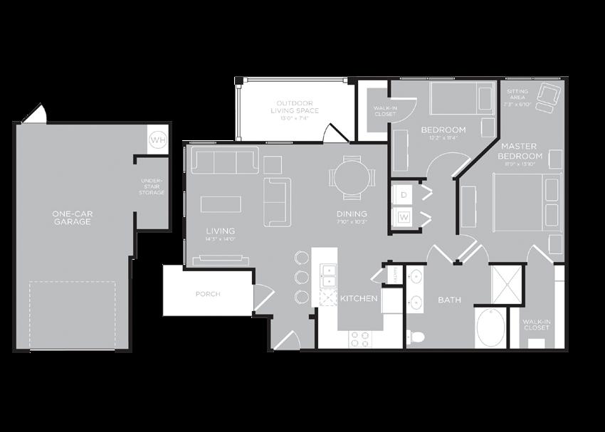 VANCOUVER Floor Plan at Century Travesia, Austin, TX, 78728