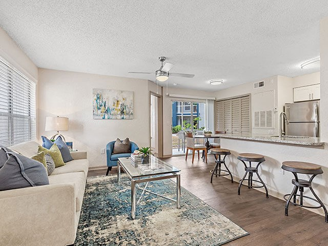 Comfortable Sofas in Living Room at Retreat at Crosstown, Riverview