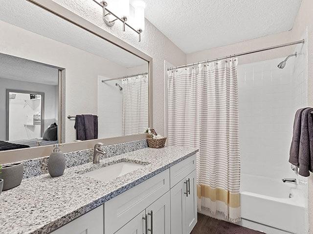 Soaking Tub In Bathroom at Retreat at Crosstown, Florida, 33578