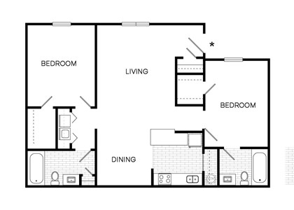 The Downtowner Floorplan