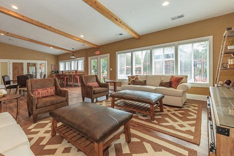 Clubhouse interior sitting area