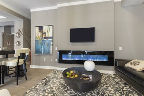 Reserve at Kenton Place clubhouse with fireplace