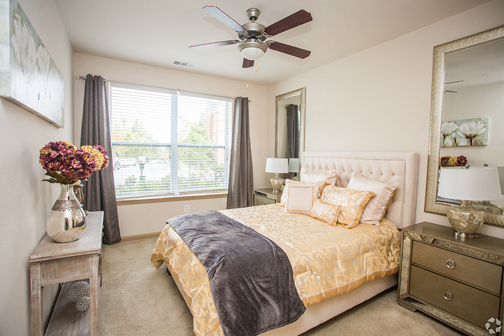 Comfortable Bedroom With Large Window at Century Summerfield, Maryland