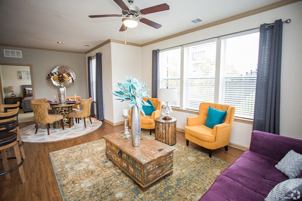 Decorated Living Room at Century Summerfield, Maryland, 20785