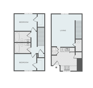 2 x 2 Townhome