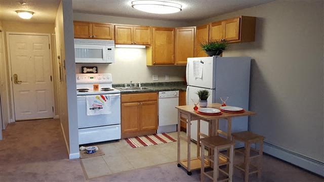 kitchen units at Coach House, Massachusetts