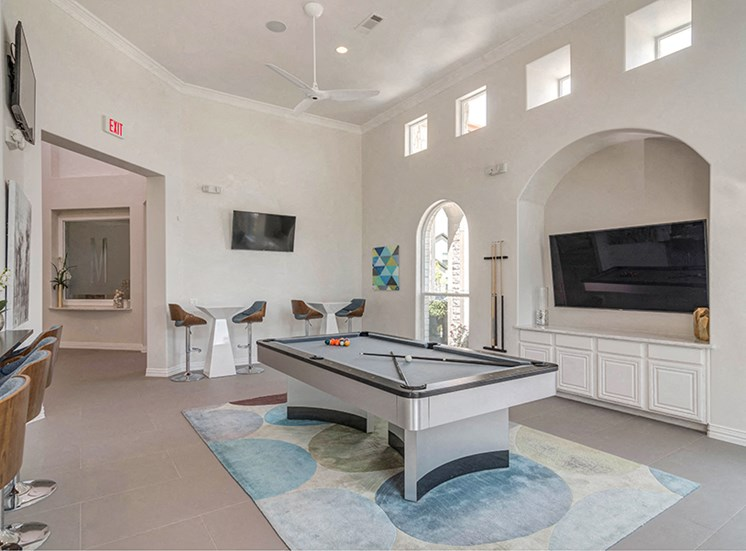 Game Room With Billiards Table at Century Travesia, Austin, Texas