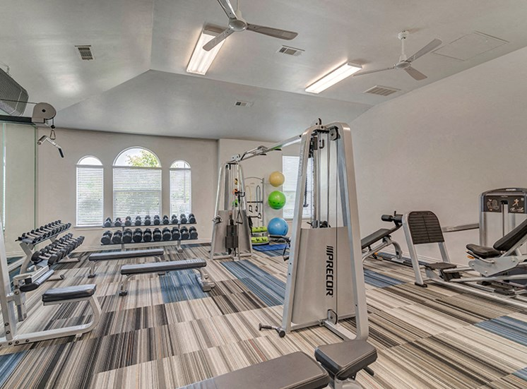 Fitness Center With Updated Equipment at Century Travesia, Austin, TX