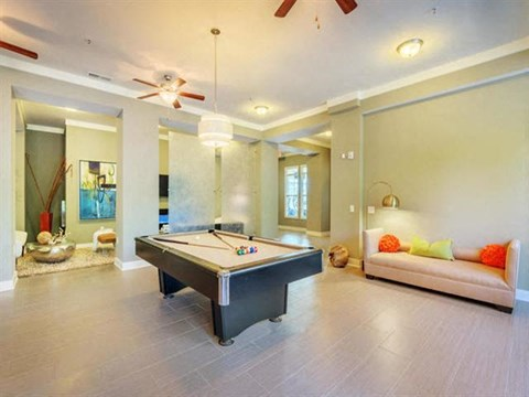 Reserve at Kenton Place clubhouse pool table