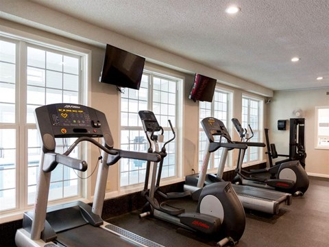 Village at Cliffdale fitness center treadmills