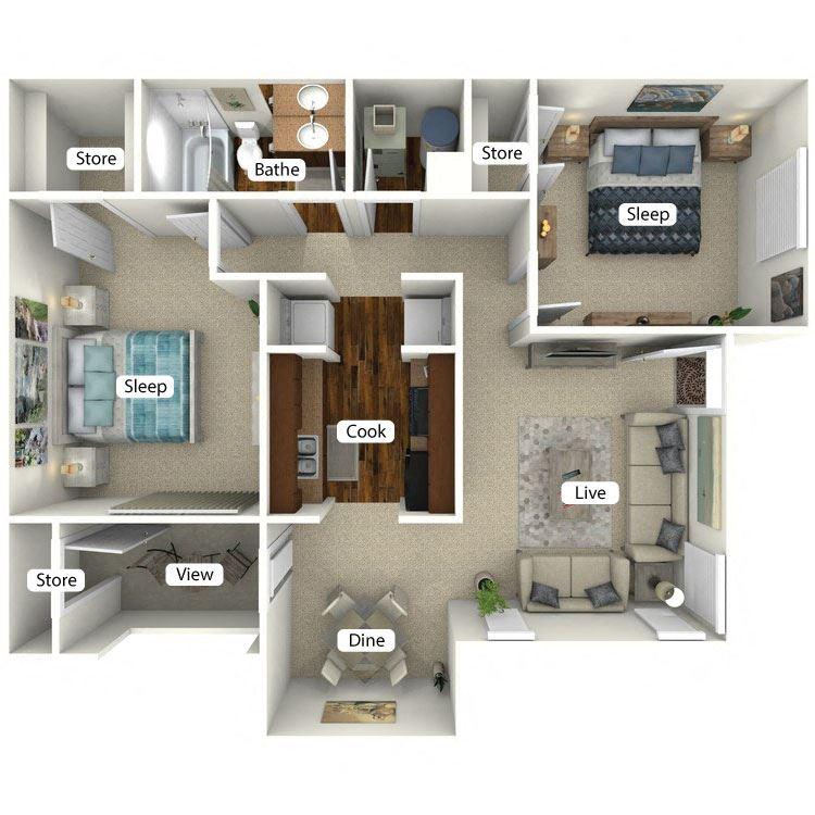 Lenox Floor Plan at The Retreat at Arc Way, Norcross, GA