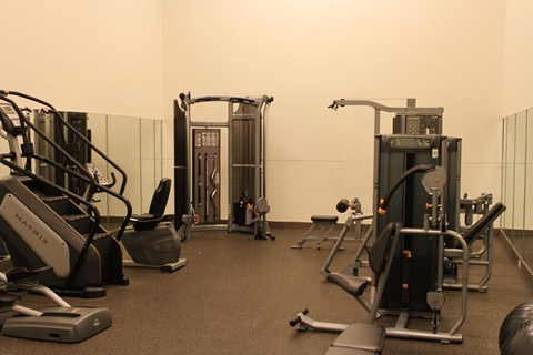 St. Andrews Commons fitness center with weight center