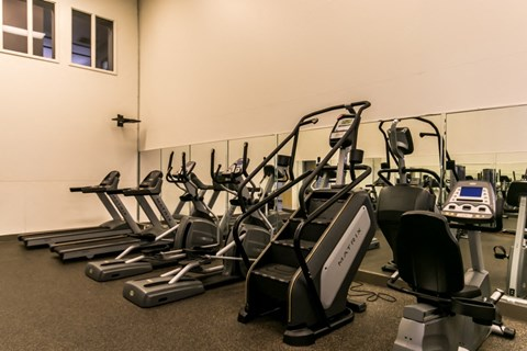 St. Andrews Commons fitness center with treadmills