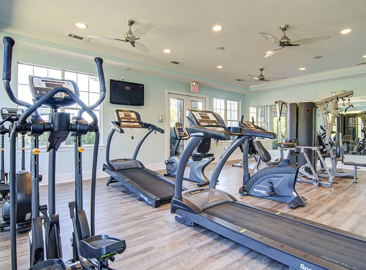 Fitness Center With Modern Equipment at STONEGATE, Birmingham, 35211