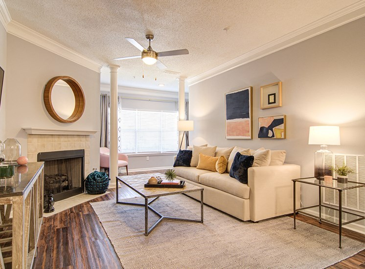 Living Room With Standard Fireplace at STONEGATE, Alabama, 35211