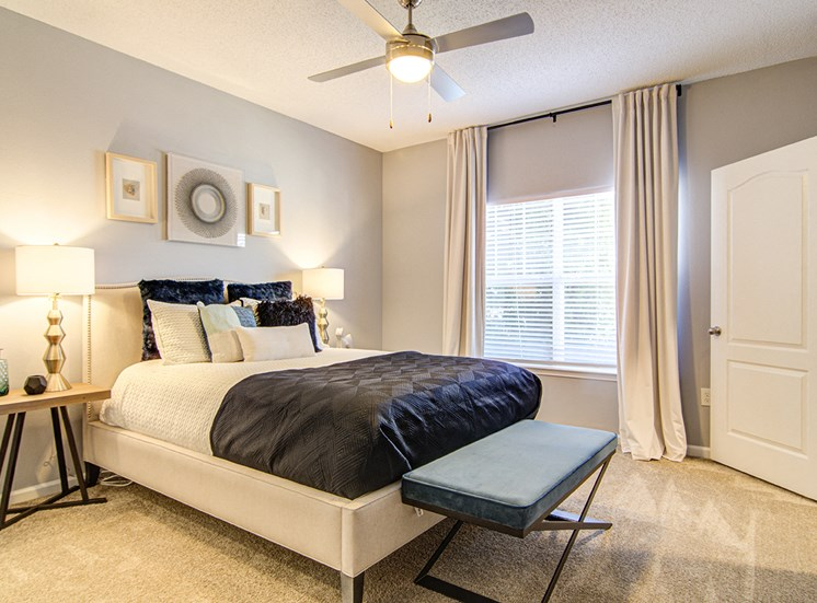 Comfortable Bedroom With Large Window at STONEGATE, Alabama