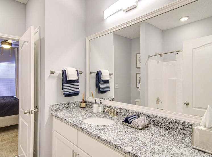 Bathroom With Mirror at STONEGATE, Birmingham, AL