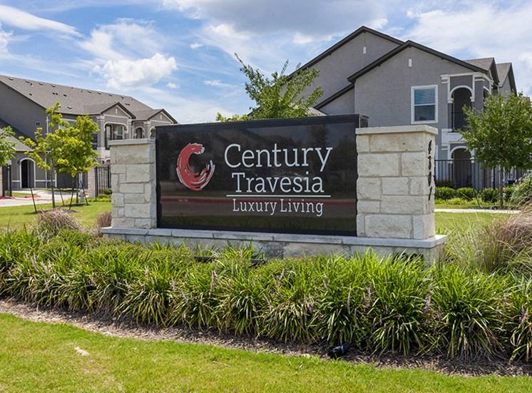 Elegant Entry Signage at Century Travesia, Texas