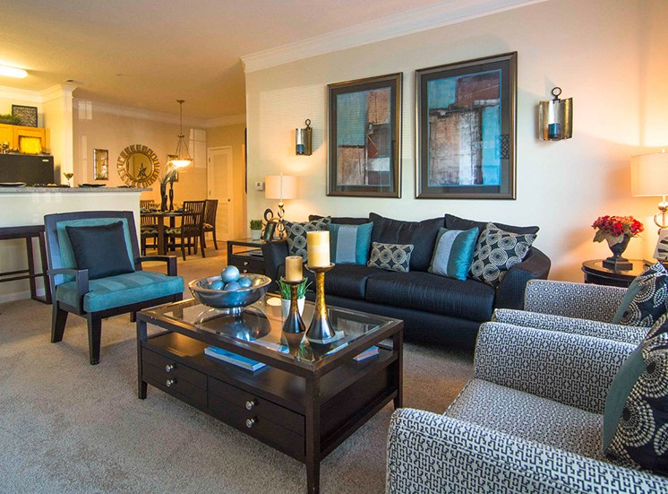 Spacious Living Room at Parkside Vista in Doraville, GA 30340