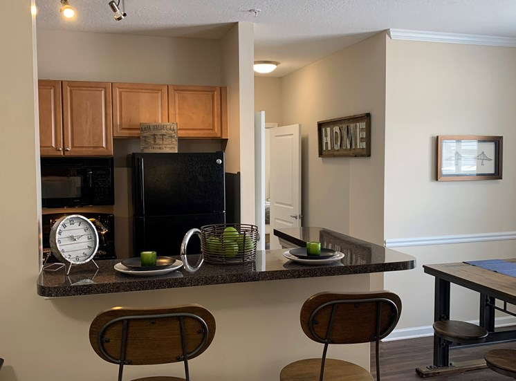 Open floor plans and spacious kitchens at The Shallowford in Chattanooga, TN