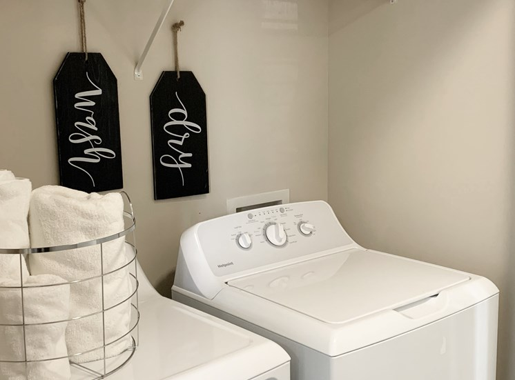 washer and dryers included at The Shallowford in Chattanooga, TN