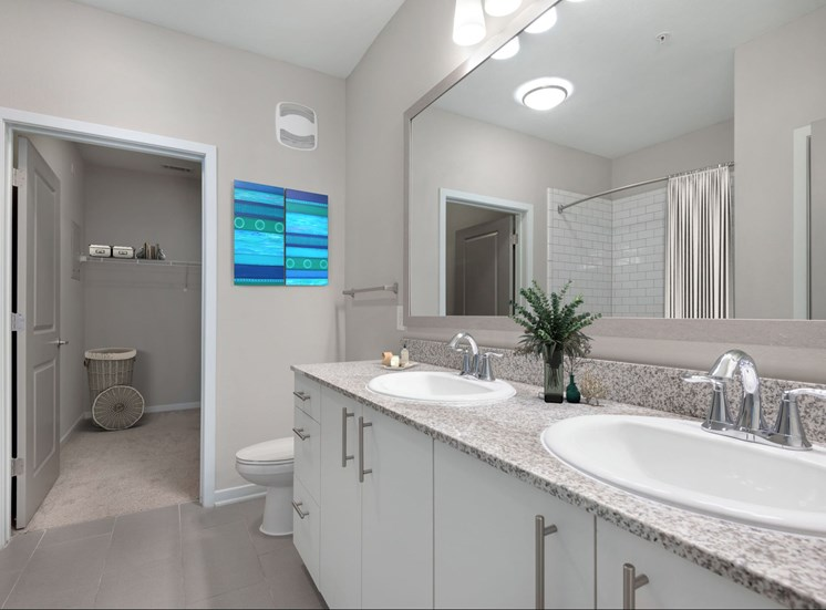 Spacious Bathrooms and Closest