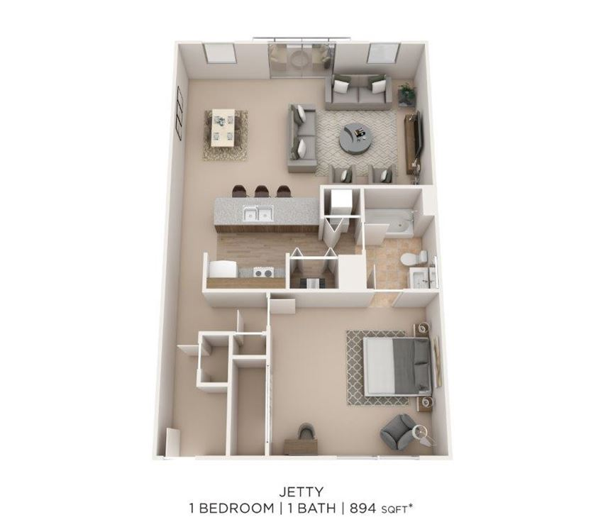 1 Bedroom 1Bath
