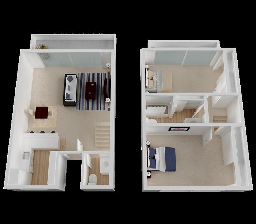 Large Two Bedroom Split-Level at Diablo Pointe in Walnut Creek, CA