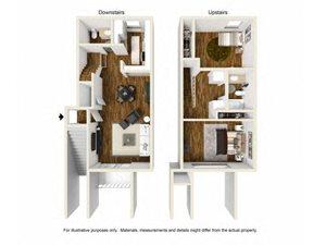 Two Bedroom One Half Bathroom