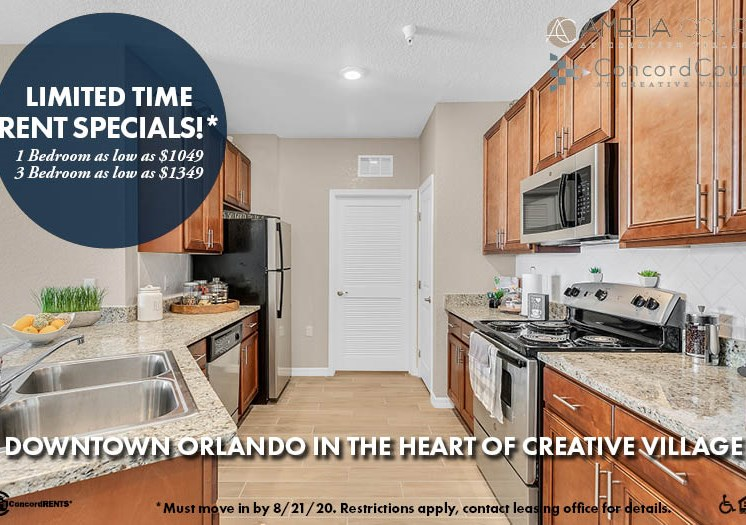 Limited Time Rent Specials 1 bedroom rents as low as $1,049  3 bedrooms rent as low as $1,349 Must move in by 8/21