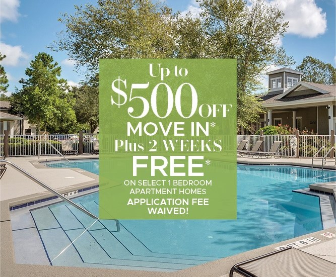 Up to $500 Off + 2 Weeks Free Move in Special