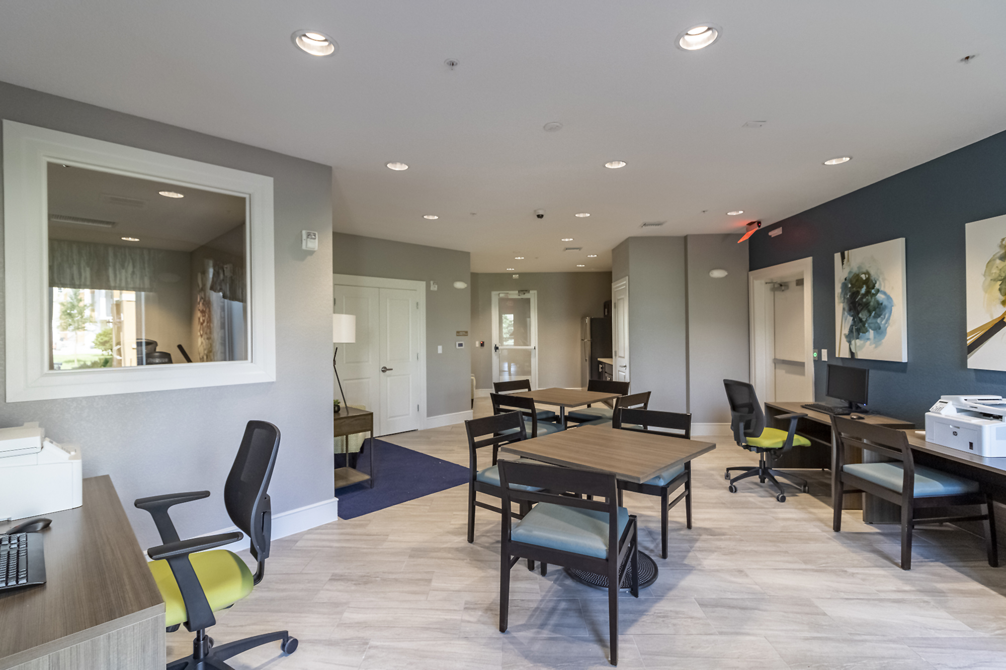 Business Center,Clubhouse interior