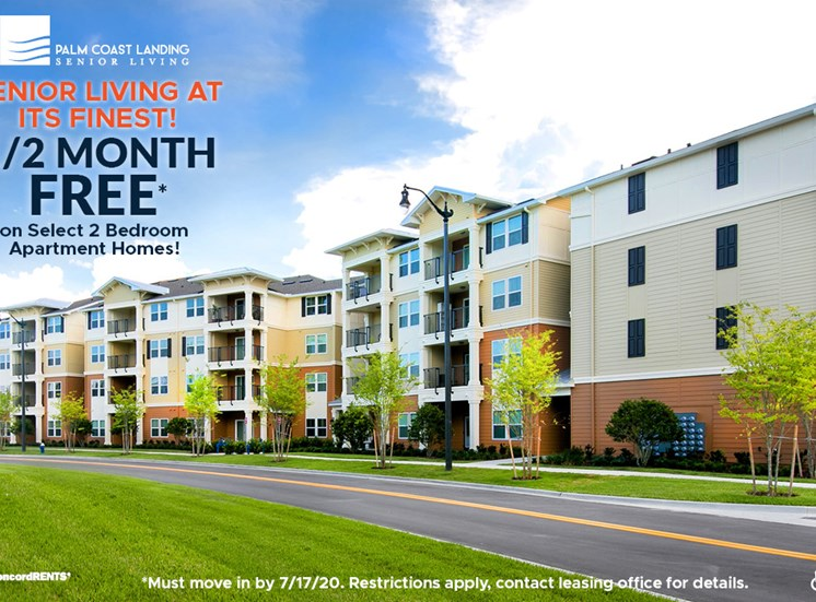 Senior Living at its Finest! 1/2 Month Free on select 2 bedroom apartment Homes Must move in by 7/17