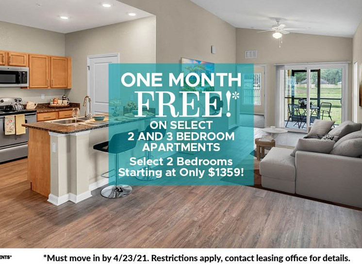 One Month Free Move In Special
