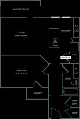 Allister North Hills - Alleghany floor plan
