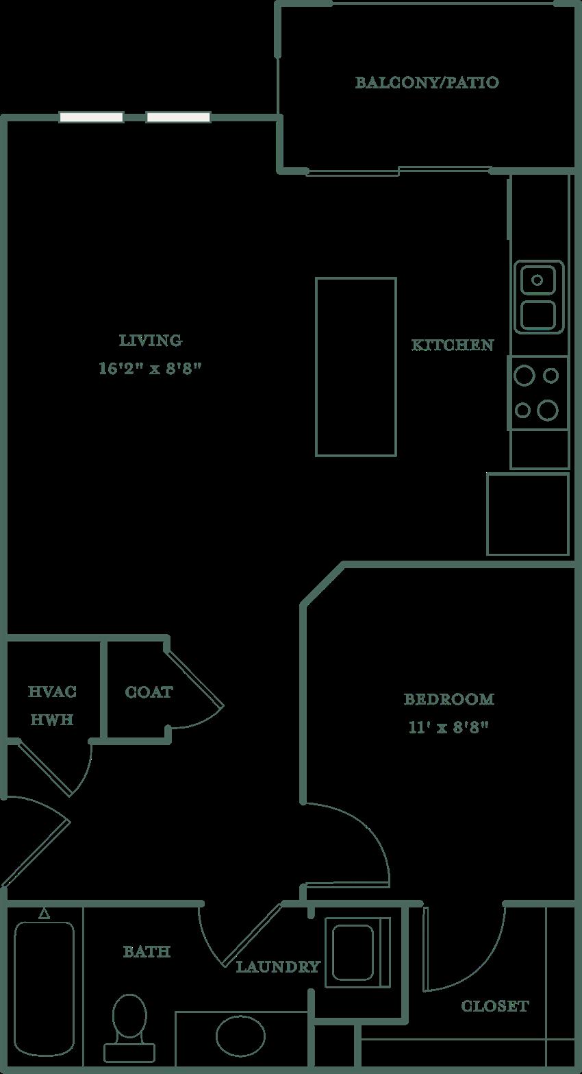 Allister North Hills - Rowan floor plan