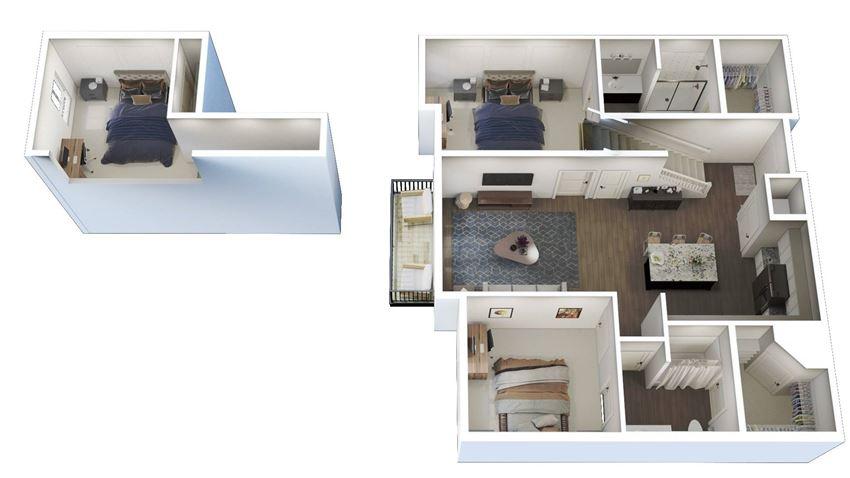 2 Bed 2 Bath Loft K