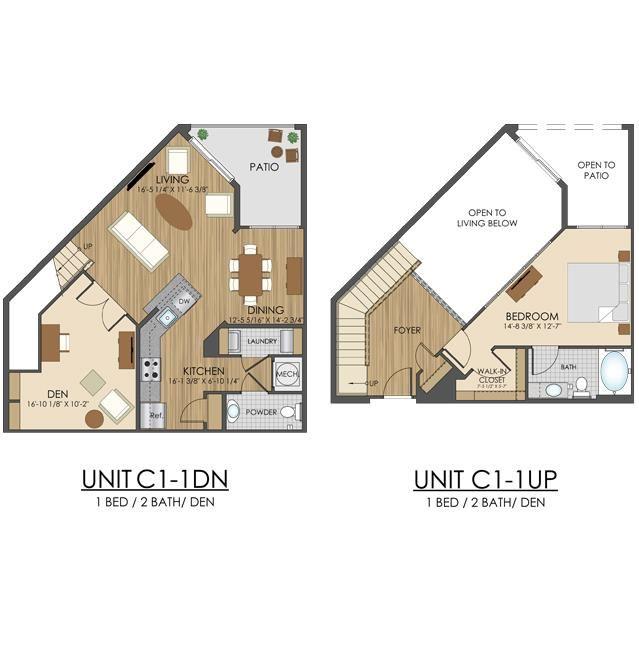 Hidden Creek Apartments Gaithersburg Maryland 1 bedroom 2 bath with a den apartment