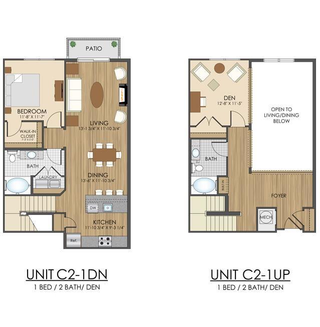 Hidden Creek Apartments Gaithersburg Maryland 2 bedroom 2 bath apartment with a den