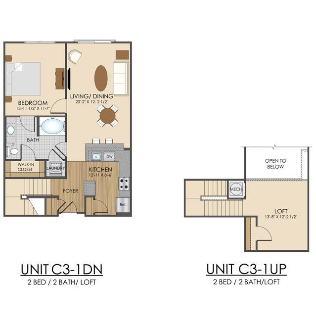 Hidden Creek Apartments Gaithersburg Maryland 2 bedroom 2 bath apartment loft