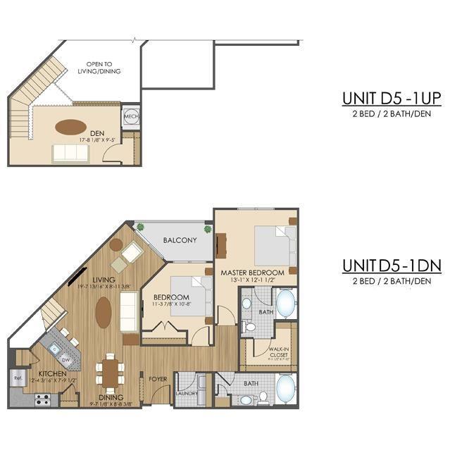 Hidden Creek Apartments Gaithersburg Maryland 2 bedroom 2 bath with a den apartment