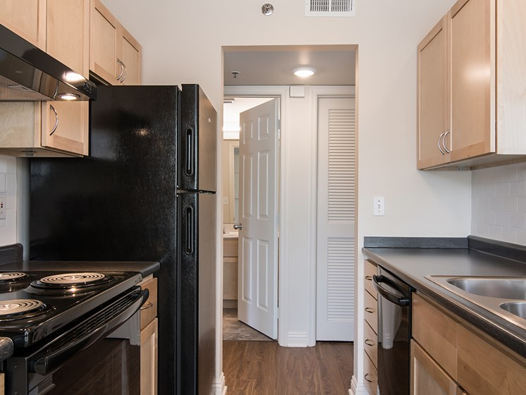 apartment kitchen_Crawford Square Pittsburgh, PA