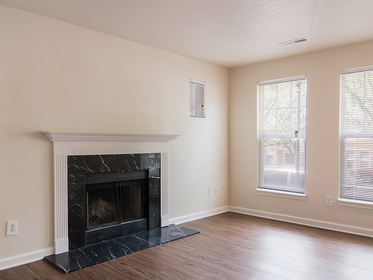 interior apartment fireplace_Crawford Square Pittsburgh, PA