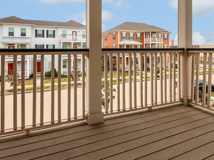 Patio/balcony area-Cedars at Carver Park Galveston, TX