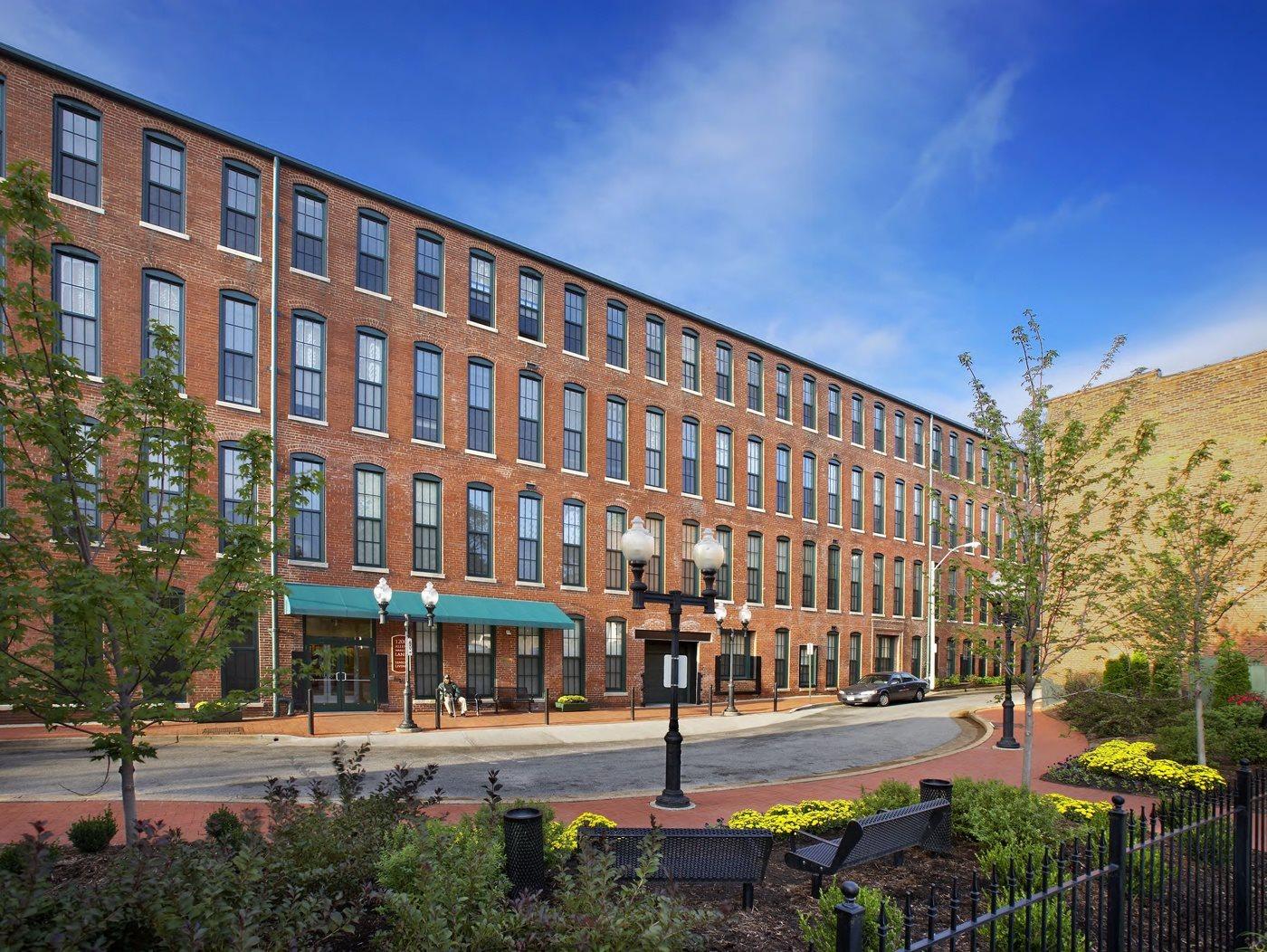 Street view of apartment building-Allen Market Lane Apartments, St. Louis, MO
