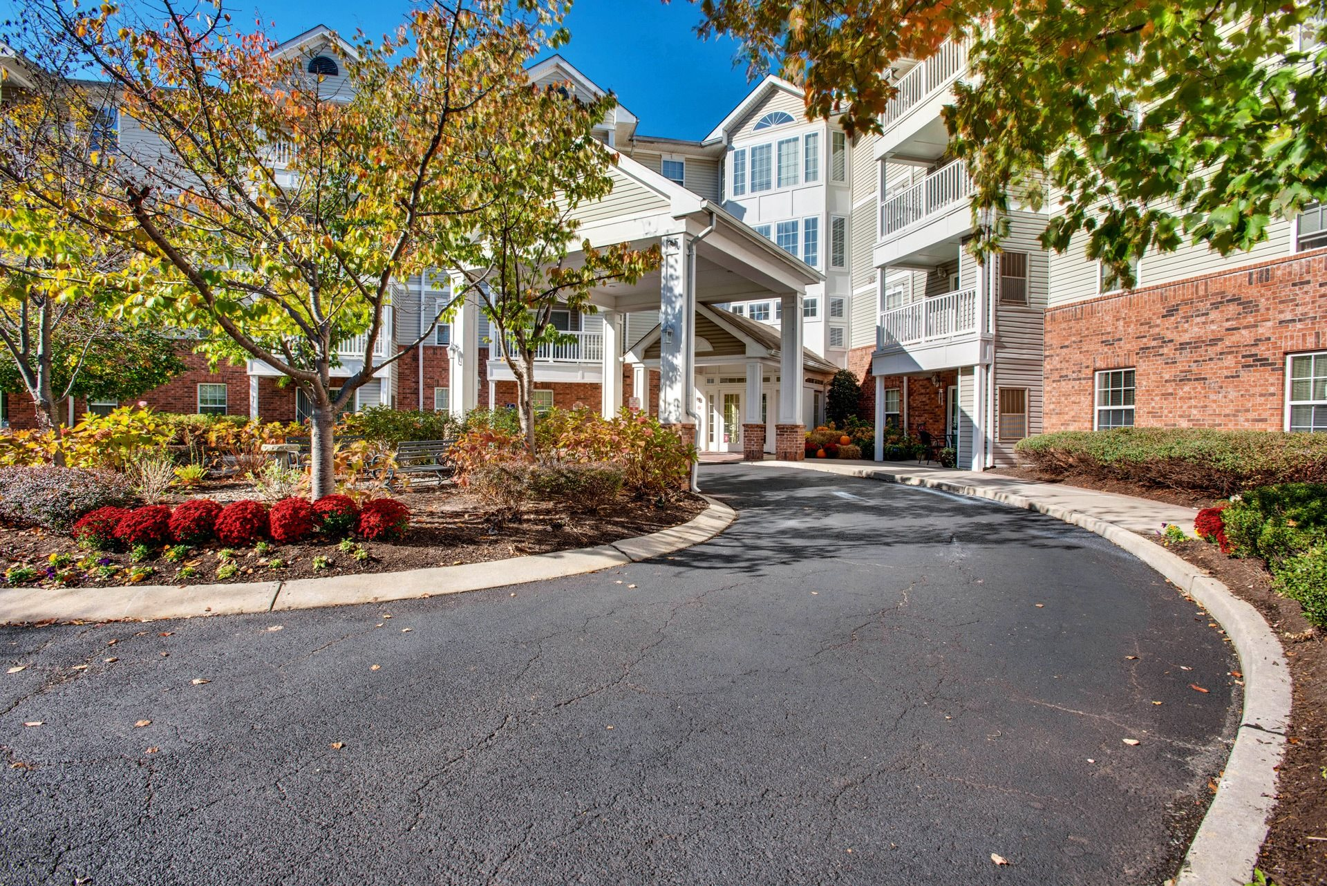 Street entrance-Brookshire Senior Living, Lawrenceville, NJ
