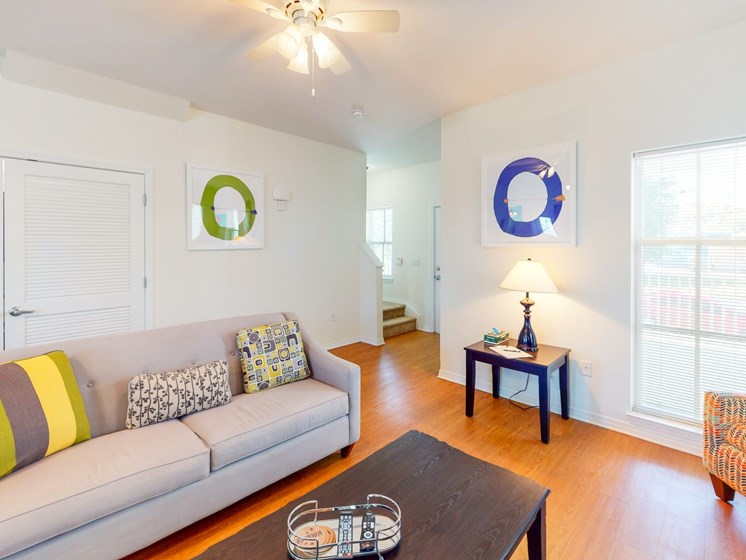 Apartment living room-Marrero Commons, New Orleans, LA