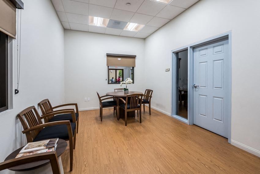 Conference room interior-Casa Salazar Apartments, Los Angeles CA